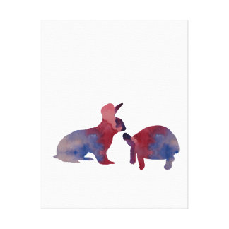 A rabbit and a tortoise canvas print