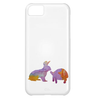 A rabbit and a tortoise Case-Mate iPhone case