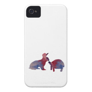 A rabbit and a tortoise iPhone 4 Case-Mate case