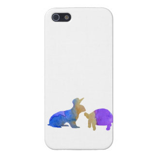 A rabbit and a tortoise iPhone 5/5S cover