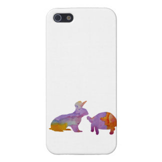 A rabbit and a tortoise iPhone 5 covers