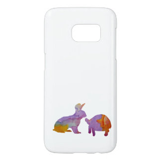 A rabbit and a tortoise samsung galaxy s7 case
