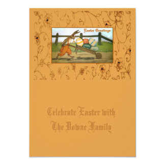 """A Rabbit's Work is Never Done 5"""" X 7"""" Invitation Card"""