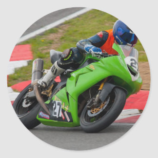 A racing Ninja Classic Round Sticker