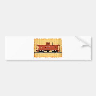 A Railroad Caboose Bumper Sticker