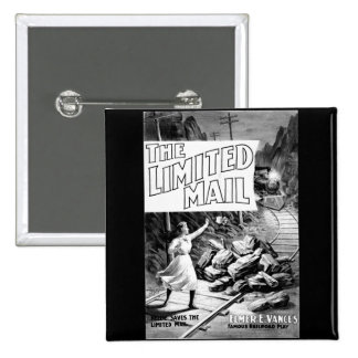 A Railroad Play -The Limited Mail 1899 2 Inch Square Button