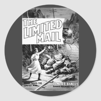A Railroad Play -The Limited Mail 1899 Round Sticker