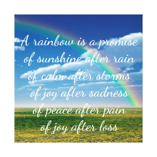 A Rainbow is a Promise Canvas Print