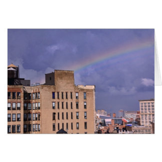 A rainbow over NYC's East River after a storm Card