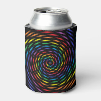 A Rainbow Pinwheel in Motion Can Cooler