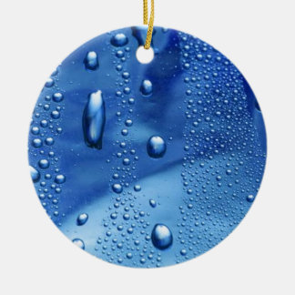A Raining Day Round Ceramic Ornament
