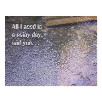 A Rainy Day, and You Postcard