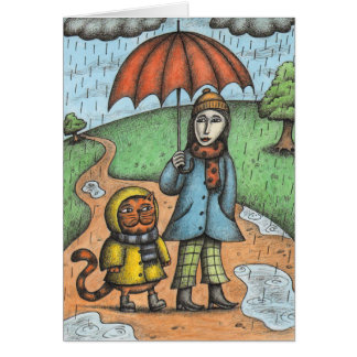 'A Rainy Day' Card