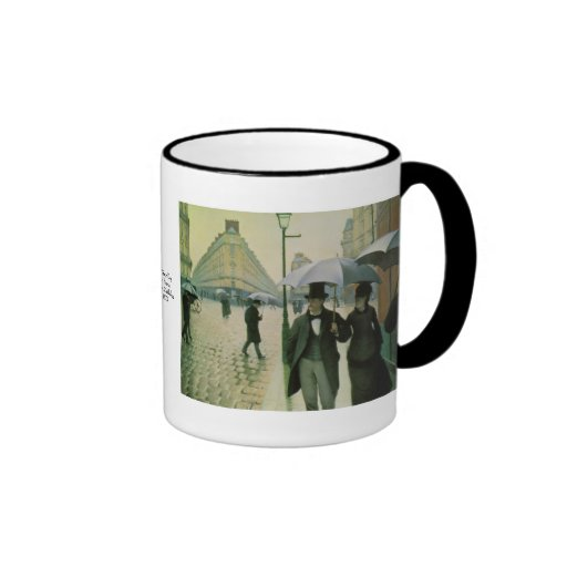 A Rainy Day in Paris by Gustave Caillebotte Coffee Mugs