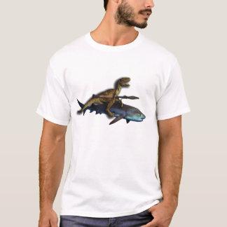 A Raptor Riding a Shark with a Rocket Launcher/Rpg T-Shirt