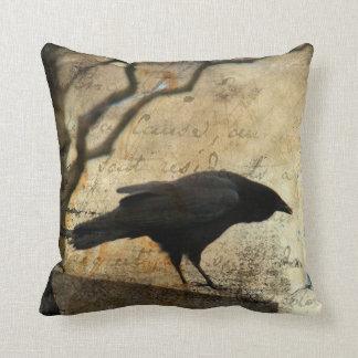 A Raven Throw Pillow
