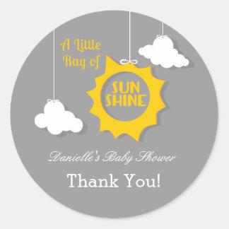 A Ray of Sunshine Baby Shower Sticker