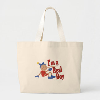 A Real Boy! Large Tote Bag