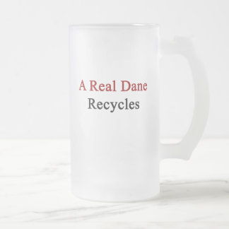 A Real Dane Recycles Frosted Glass Beer Mug