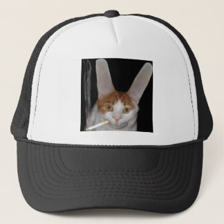 A real live cabbit trucker hat