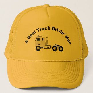 A Real Truck Drivin Man Mesh Cap - Yellow