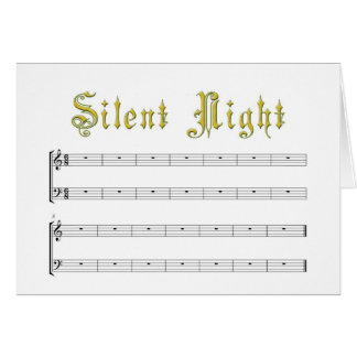 A really Silent Night greeting card