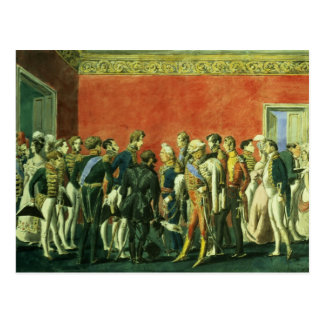 A Reception in the Embassy of Teheran, 1830s Postcard