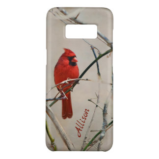A Red Cardinal Bird on a Branch in the Woods Case-Mate Samsung Galaxy S8 Case