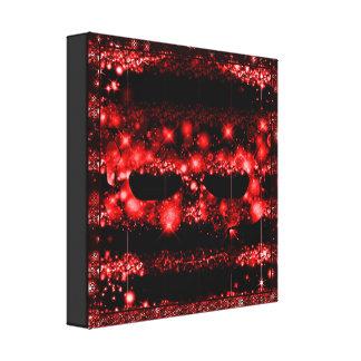 A Red Geometric & Fractal Skull Canvas Print