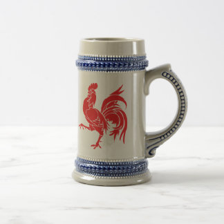 A Red Rooster Beer Stein