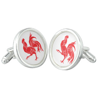 A Red Rooster Cufflinks