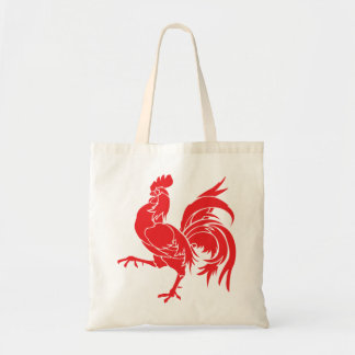 A Red Rooster Tote Bag