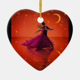 A Red Waltz Ceramic Ornament