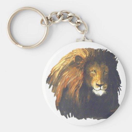 """A Regal Lion"" Key Chain"