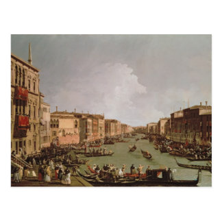 A Regatta on the Grand Canal, c.1735 Postcard