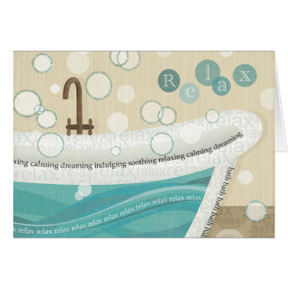 A Relaxing Bath Card