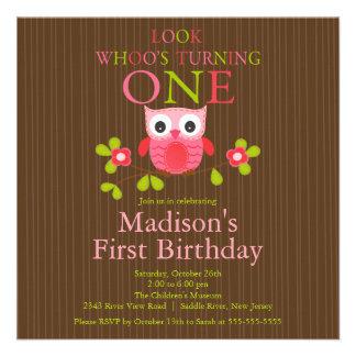 Ă res invitations de fête d anniversaire de hibou