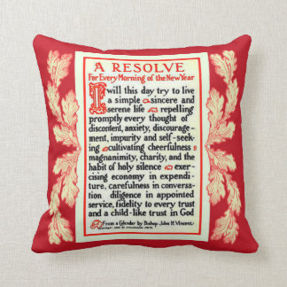 A RESOLVE PRAYER FOR EVERY MORNING IN THE NEW YEAR THROW PILLOW