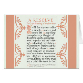 A RESOLVE PRAYER FOR THE MORNING CARD