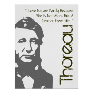 A Retreat From Man Thoreau Poster