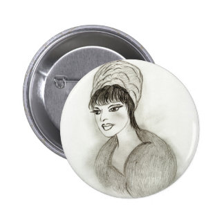 A Retro Girl 2 Inch Round Button
