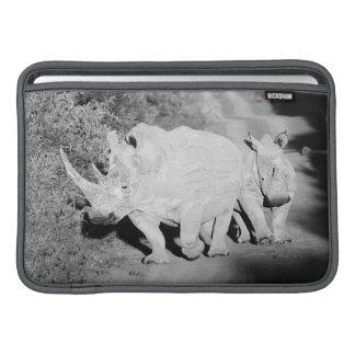 A Rhino mother and her calf in South Africa MacBook Sleeve