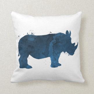 A rhino throw pillow