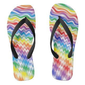 A Rhythmic Rainbow Flip Flops