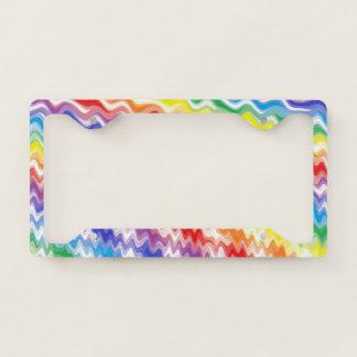 A Rhythmic Rainbow License Plate Frame