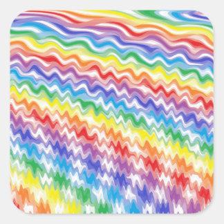A Rhythmic Rainbow Square Sticker