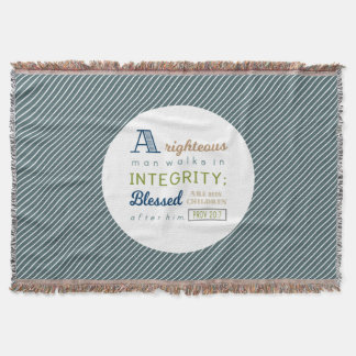 A Righteous Man Walks in Integrity, Scripture Throw Blanket