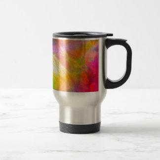 A riot of colour travel mug