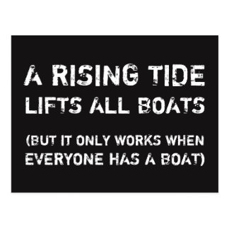 A RISING TIDE... Social Justice Equality Postcard