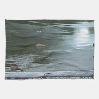 A River flowing Hand Towels